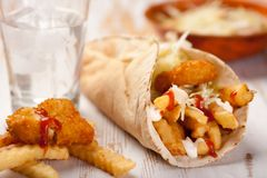 Crispy potato soft taco Royalty Free Stock Photography