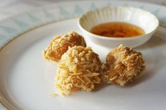 Crispy prawn dumpling Royalty Free Stock Images