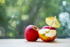 Crispy red apples. Healthy eating, agricultural industry concept stock images