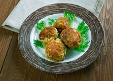 Crispy Rice Balls. Sharp Cheddar Arancini Royalty Free Stock Photography