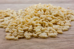 Crispy Rice Cereal on counter Royalty Free Stock Photo