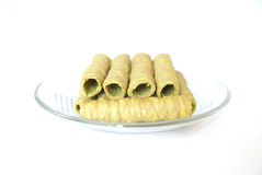 Crispy Roll. On white background Stock Photos