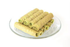 Crispy Roll. On white background Royalty Free Stock Image