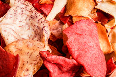 Crispy Root Vegetable chips Royalty Free Stock Photos