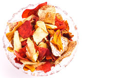 Crispy Root Vegetable chips Stock Photography