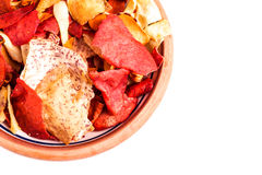 Crispy Root Vegetable chips Royalty Free Stock Images