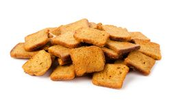 Crispy rusk. Isolated on white background Stock Photo