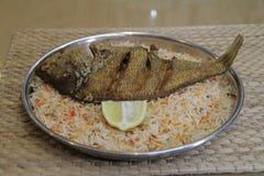 Crispy ryba Smażący biryani zdjęcie stock