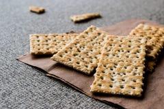Crispy Rye Bread Crackers low calories Stock Photo