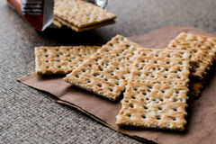 Crispy Rye Bread Crackers low calories. Diet food Royalty Free Stock Photo