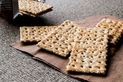 Crispy Rye Bread Crackers low calories Royalty Free Stock Images