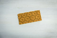 Crispy Rye Bread Crackers low calories Gluten Free. Bread, onion garlic on the table Stock Photography