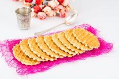 Crispy słodcy słodcy opłatki zdjęcia stock