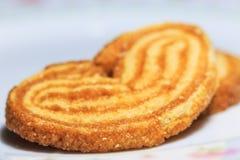 Crispy słodki chleb w zakończeniu up Obraz Stock