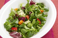 Crispy salad. Crisp leafy salad in bowl. See all my food & drink images here stock photo
