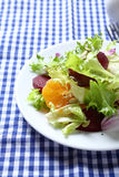 Crispy salad with beet and oranges Stock Photos