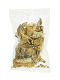 Crispy salmon skin in bag Royalty Free Stock Photography