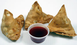 Crispy samosas for snack Stock Images