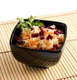Crispy sauerkraut with diced beets Royalty Free Stock Image