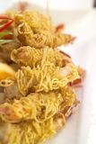 crispy schrimp Arkivbilder