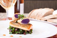 Crispy Seared Creemore Rainbow Trout Stock Images
