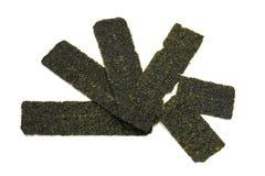 Crispy seaweed isolated on white background Royalty Free Stock Images