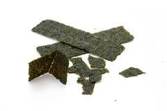 Crispy seaweed isolated on white background Royalty Free Stock Image