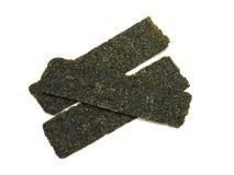 Crispy seaweed isolated on white background Stock Image