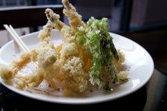Crispy Shrimp Tempura Stock Photo