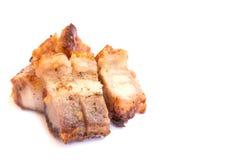 Crispy skin fried pork isolated on white background Stock Photo