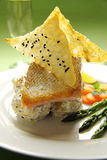 Crispy Skin Salmon Royalty Free Stock Photo