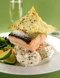 Crispy Skinnes Salmon Royalty Free Stock Photography