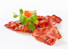 Crispy slices of bacon Stock Image