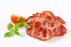 Crispy slices of pork meat Royalty Free Stock Photography