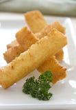 Smażący chlebów paski Fotografia Stock