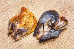 Crispy smoke dried mystus nemurus catfish Royalty Free Stock Images