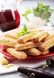Crispy snacks Stock Images
