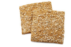 Crispy spelt cracker with crushed wheat kernels Royalty Free Stock Photos