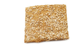 Crispy spelt cracker with crushed wheat kernels Stock Photography