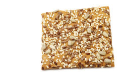 Crispy spelt cracker with mixed seeds Royalty Free Stock Photography