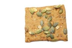 Crispy spelt cracker with pumpkin seeds Stock Images