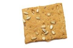 Crispy spelt cracker with sunflower seeds Royalty Free Stock Image