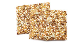 Crispy spelt crackers with mixed seeds Royalty Free Stock Image