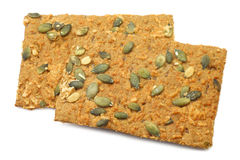 Crispy spelt crackers with pumpkin seeds and cheese Stock Photo