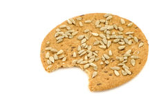 Crispy spelt crackers with sunflower seeds Stock Images