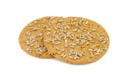 Crispy spelt crackers with sunflower seeds Royalty Free Stock Photography
