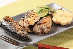 Crispy spiced mackerel Royalty Free Stock Image