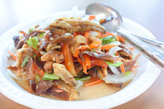 Crispy Spicy Salad, Thai food. Royalty Free Stock Photos