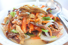 Crispy Spicy Salad, Thai food. Royalty Free Stock Photography