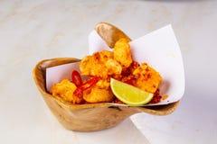Crispy squid with chili stock image
